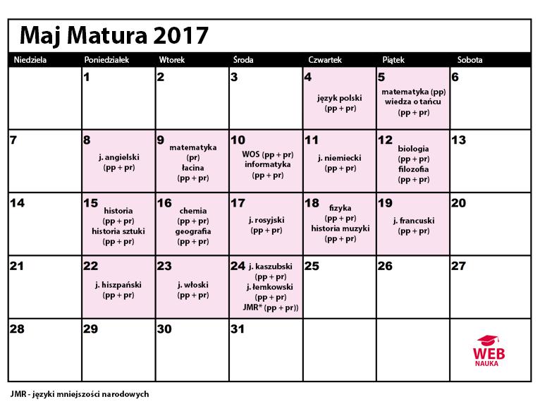 Kalendarz maturalny